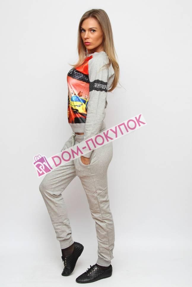 Женский спортивный костюм с принтом с доставкой