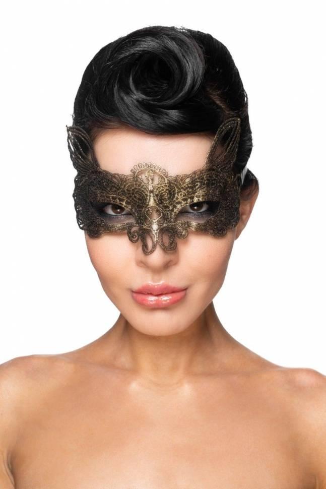 Золотистая карнавальная маска «Альтарф»