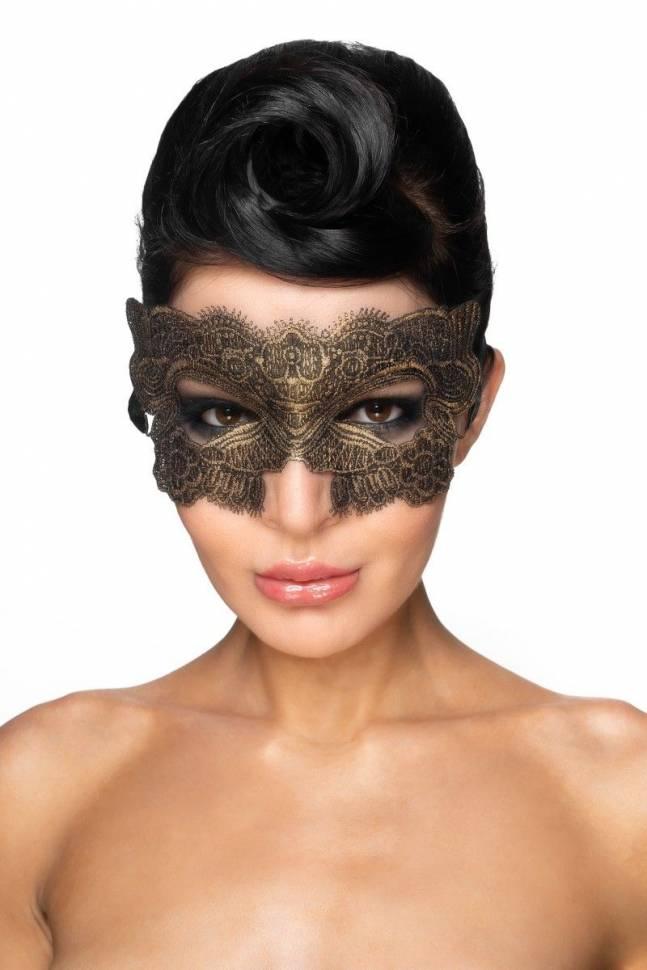 Золотистая карнавальная маска «Гомейса»