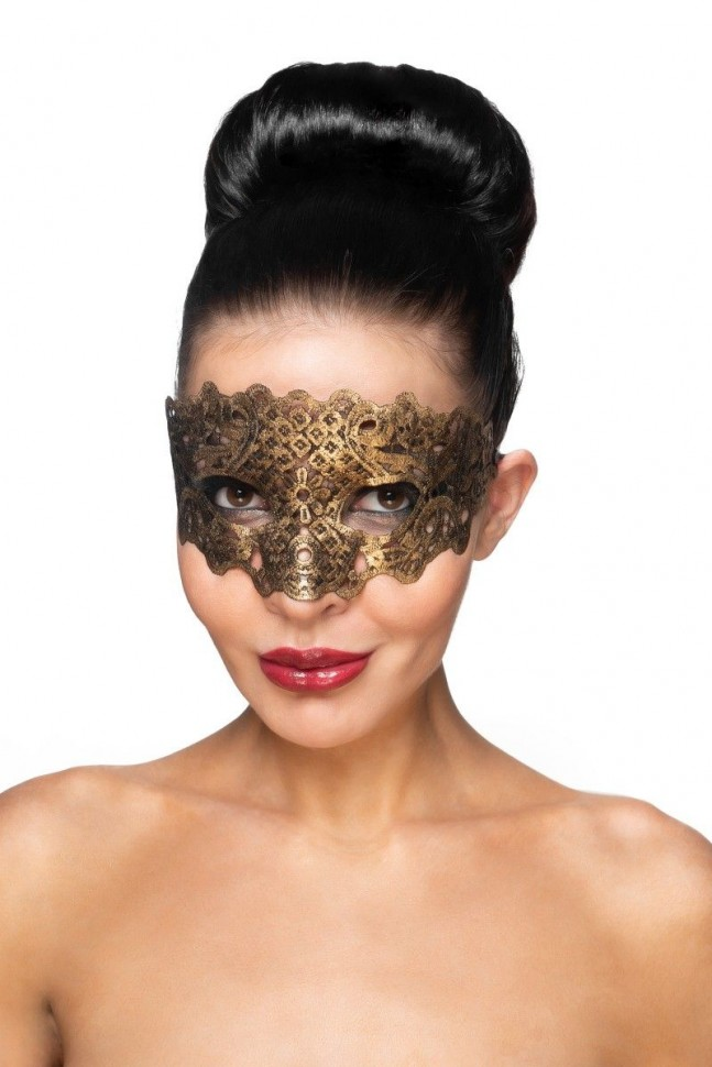 Золотистая карнавальная маска «Каус»