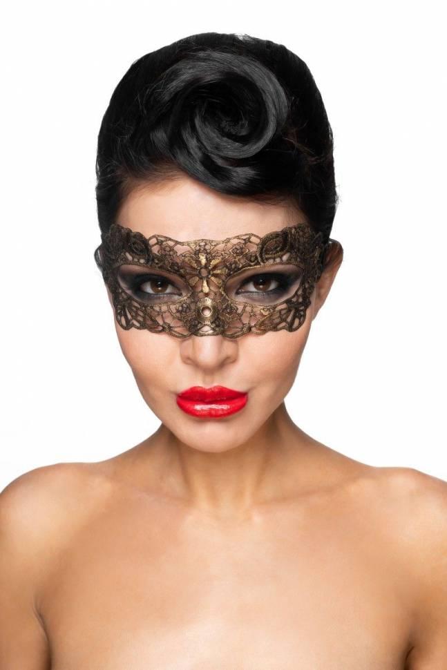 Золотистая карнавальная маска «Киталфа»