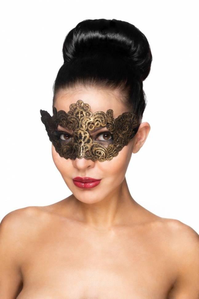 Золотистая карнавальная маска «Курса»