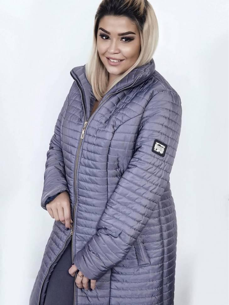 Женское зимнее стеганое пальто больших размеров