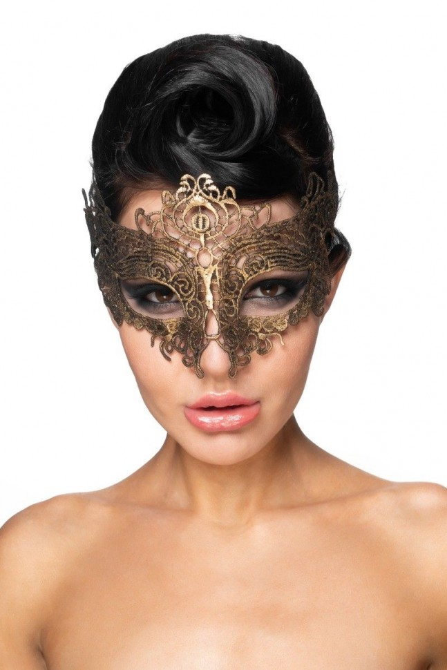 Золотистая карнавальная маска «Шедди»