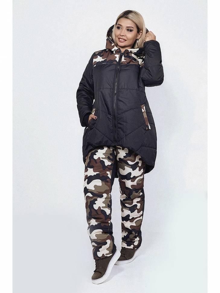 e32417d9 ... Женский зимний спортивный костюм милитари большие размеры, артикул: AS8- SKBS-3408 ...